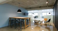 Collaborative space into the premises of TUI in Levallois-Perret, France