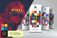 Pixel - Roll-Up Banner  1 by Cooledition on Creative Market