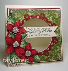 Taylored Expressions Preview: Peaceful Poinsettia! by Kharmagirl - Cards and Paper Crafts at Splitcoaststampers