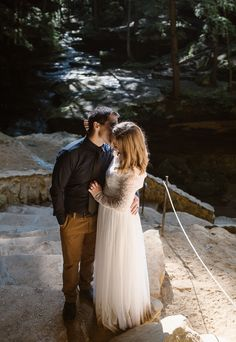 Sunrise Elopement at Ash Cave Waterfall in Hocking HIlls State Park, Ohio. Elopement Inspiration, Wedding Photo Inspiration, State Parks, Love Story, Ohio, Destination Wedding, Sunrise, Waterfall, Wedding Photos