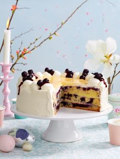 Heidelbeer-Eierlikoer-Torte