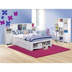 Dixie Storage Full Bedroom Collection, White