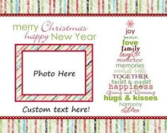 Free Printable Photo Christmas Cards - 4 to choose from! I love the 'Subway Art' Christmas Tree on this one.