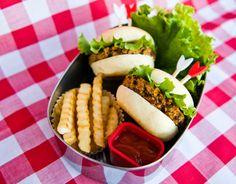 Vegan Gluten-Free Mini Veggie Burgers from the cookbook Vegan Lunch Box Around the World