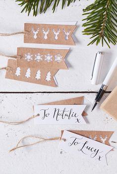 Papieranhänger - Geschenkanhänger Rustic Christmas bei Pomballon.de