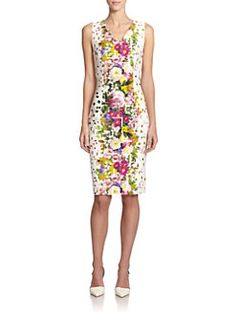 Carolina Herrera - Confetti Floral-Print Sheath