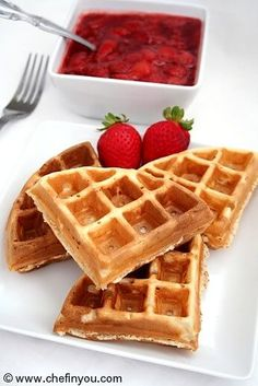 Classic (Belgian) Waffles  Step by Step pictorial for making Best Homemade Belgian Style waffles (with Egg Free/ Vegan options)
