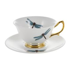 Melody Rose - Dragonflies Tea Cup & Saucer