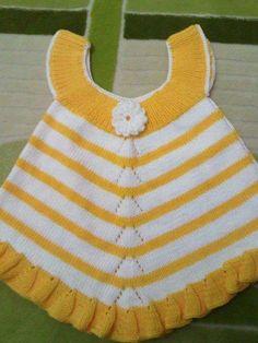 yellow/white baby girl dress