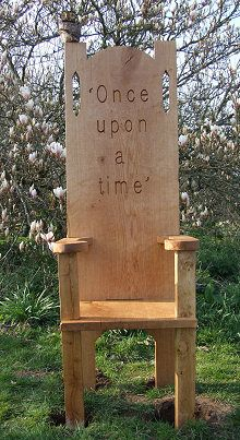 A Oak Story Telling Chair - great to add to a outdoor classroom