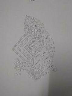 Border Embroidery Designs, Embroidery Motifs, Jewelry Design Drawing, Henna Designs Easy, Wreath Drawing, Embroidery Materials, Beautiful Rangoli Designs, Mandala Design, Fabric Painting