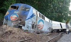 Train wreck yes but the collateral damage is much worst