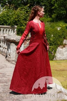 Hey, I found this really awesome Etsy listing at http://www.etsy.com/listing/97451192/sale-red-medieval-dress-pretty-amaryllis