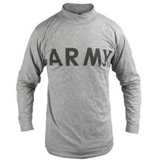 New | Army & Outdoors  USGI Long Sleeve T-Shirt The iconic, grey Improved Physical... Army Combat Uniform, M65 Jacket, Waterproof Poncho, Military Fashion, Outdoors, News, Grey, Long Sleeve, Outdoor