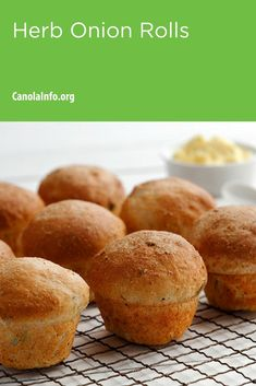 Switch out your sandwich with a Herb Onion Roll. Quick and easy bread making without having to wait for several risings of the dough. How To Make Bread, Bread Making, Instant Yeast, Easy Bread, Muffin Cups, Test Kitchen, Fall Recipes, Onion, Workplace Wellness
