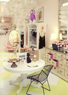 I like the idea of the dresser...maybe it would be a fun way to display jewelry? Or a place to put undergarments?