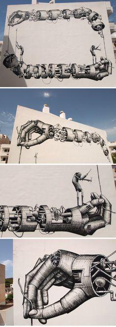 Street Art by Phlegm (Ibiza)