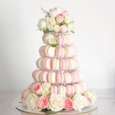 Stunning & Delicious pink french macaron Tower Macaron Gift Boxes Sydney - Beautiful products for sweet treat gifts, weddings and special events Pretty Cakes, Beautiful Cakes, Wisteria Wedding, Macaron Tower, Vintage Tea Parties, 1st Birthday Party For Girls, Chocolate Gifts, Chocolate Brownies, Dessert Buffet