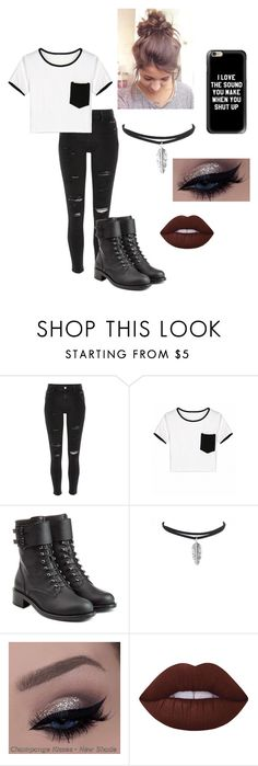 """""""Untitled #31"""" by averymo on Polyvore featuring River Island, Philosophy di Lorenzo Serafini, Lime Crime, Casetify, cute and cuteoutfits"""