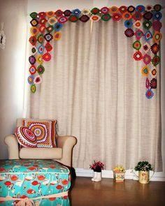 Best 10 Crochet Curtain: 40 models to decorate your home, Curtain Patterns, Curtain Designs, Crochet Art, Crochet Home, Ikea Curtains, Crochet Curtains, Crochet Decoration, Indian Home Decor, Diy Home Decor Projects