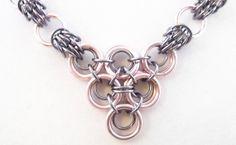Pink & Black Ice Scherzo Chain Maille Necklace