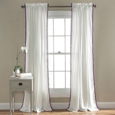 Tiffany Curtain Panel in Lilac (Set of 2)
