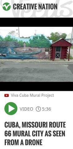 Cuba, Missouri Route 66 Mural City as seen from a drone | #cubamomuralsdroneshots | http://veeds.com/i/L_Et2rU11eRwe4Ma/creativenation/
