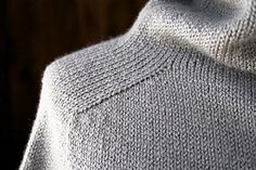 Top-Down Turtleneck Cardigan pattern by Purl Soho - Cardigan Stricken Cardigan Pattern, Crochet Cardigan, Knit Crochet, Sweater Cardigan, Ravelry Crochet, Knitting Designs, Knitting Patterns Free, Knit Patterns, Sweater Patterns