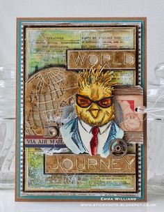 """Hello everyone... I'm just dropping by today to share another Hipster card that I created for the Tim Holtz/Sizzix """"Get Hip For Summer""""..."""