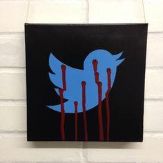 10x10inch (25.4x25.4cm) Spray painted stencil on canvas - acrylic paint