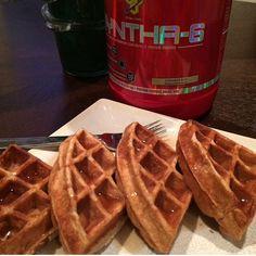 Protein Waffles. No flour! Mainly egg whites and protein powder. :)