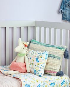 Floral Rush, Our Little Girls Very Whimsical Big Girl Room, The land Of Nod www.theruggedrooster.com