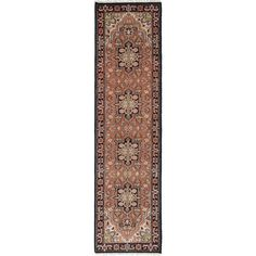 eCarpetGallery Hand-knotted Royal Heriz Brown Wool and Cotton Rug (2'7 x 9'11)