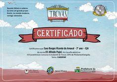 Concurso de Trovas - 2015   Prefeitura de Pindamonhangaba  (certificado)