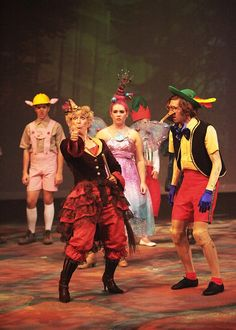 Fairy Tale Creatures.  The Witch, Pinocchio, Sugar Plum Fairy, etc. Shrek The Musical, Salina Community Theatre. Contact: Nipperanne@gmail.com for rental information