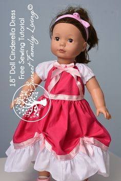 American Girl Cinderella Dress Free Sewing Tutorial