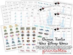 plan out our vacation schedule together....disney countdown idea #15...Orlando, Florida Walt Disney World Vacation Planner [Free Printable]