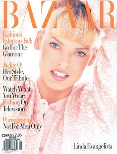 Bazaar August 1994 - Linda Evangelista