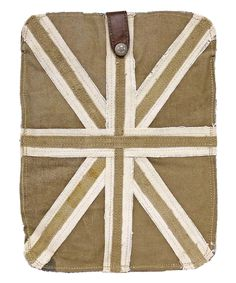 White & Tan British Flag Tablet Case