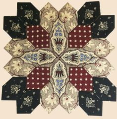 Stitches and Sew On. Quilting Projects, Quilting Designs, Sewing Projects, Quilting Ideas, Hexagon Quilt, Square Quilt, Hexagon Patchwork, Millefiori Quilts, Cross Quilt