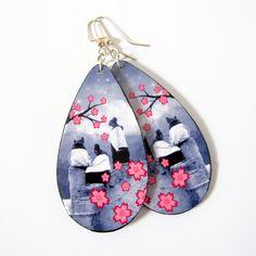 Sakura Mano (Cherry Blossom Girl) Earrings by Beyond Buckskin Boutique