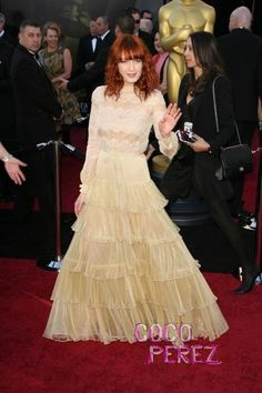 Florence and the Machine Florence Welch at the 2011 Oscars Academy Awards in Valentino Haute Couture 1
