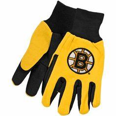 McArthur Boston Bruins Two-Tone Utility Gloves - Black/Gold