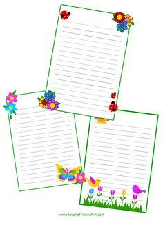 Letterine per maestre con immagini di fiori e animali. LETTERINE PER MAESTRE