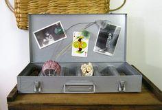Brumberger Slide Case / Industrial Metal Box by NaturalVintage, $29.00