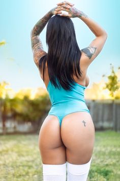 TRAINING MOTIVATION:  BACKYARD TATTOOED PHAT BOOTY FANTASY With Sexy Inked Fitness Model Vanessa : Health Exercise #Fitspiration #Fitspo FitFam - Crossfit Athletes - Muscle Girls on Instagram - #Motivational #Inspirational Physiques - Gym Workout and Training Pins by: CageCult