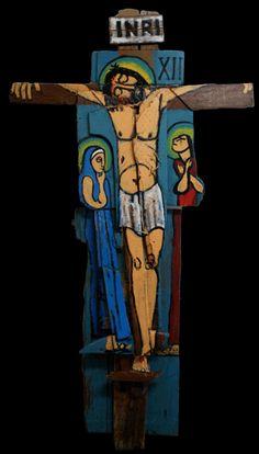 Joan Brand-Landkamer - Twelfth Station of the Cross Spiritual Paintings, Religious Paintings, Religious Art, Cross Art, The Cross Of Christ, Jesus Art, Spirited Art, Biblical Art, Catholic Art