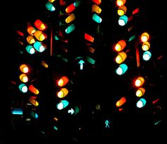 long exposure traffic light tree by abby chicken photography, via Flickr