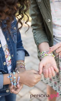A new friendship bracelet for the new generation-Adorable silver charms for your little fashionista.  See them all at personaworld.com