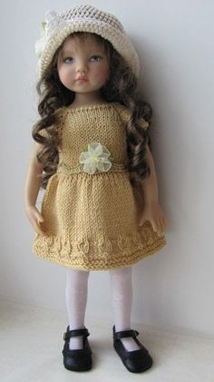 OOAK Hand Knit Doll Outfit Set for 13'' BJD, Helen Kish, Diana Effner
